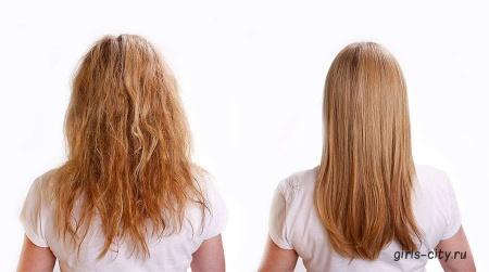 Как выпрямить волосы в домашних условиях?
