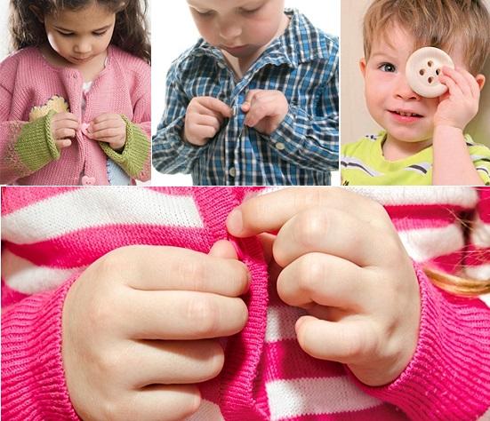 Как научить ребёнка застёгивать пуговицу?